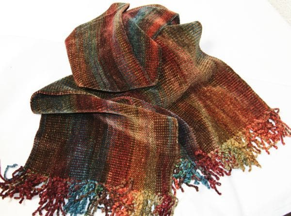 Autumn Rainbow - Bamboo Chenille Scarf - Space-Dyed 8
