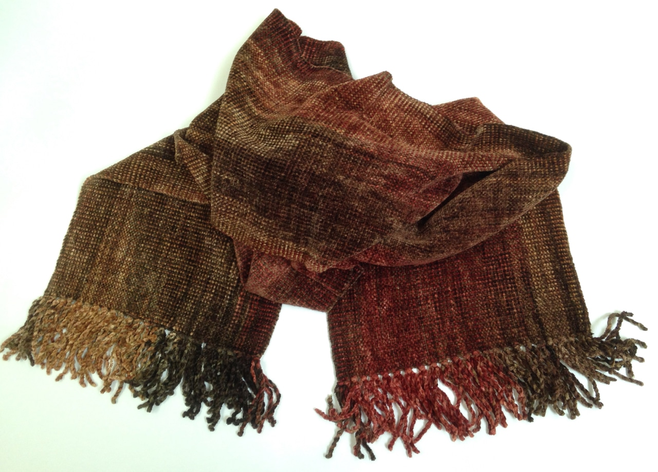 Autumn - Bamboo Chenille Scarf - Space-Dyed 8