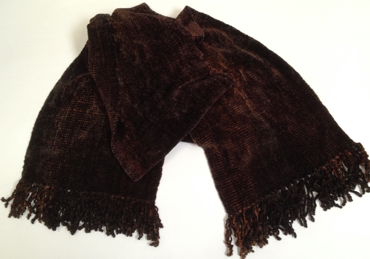 Browns and Black - Bamboo Chenille Scarf - Space-Dyed 8