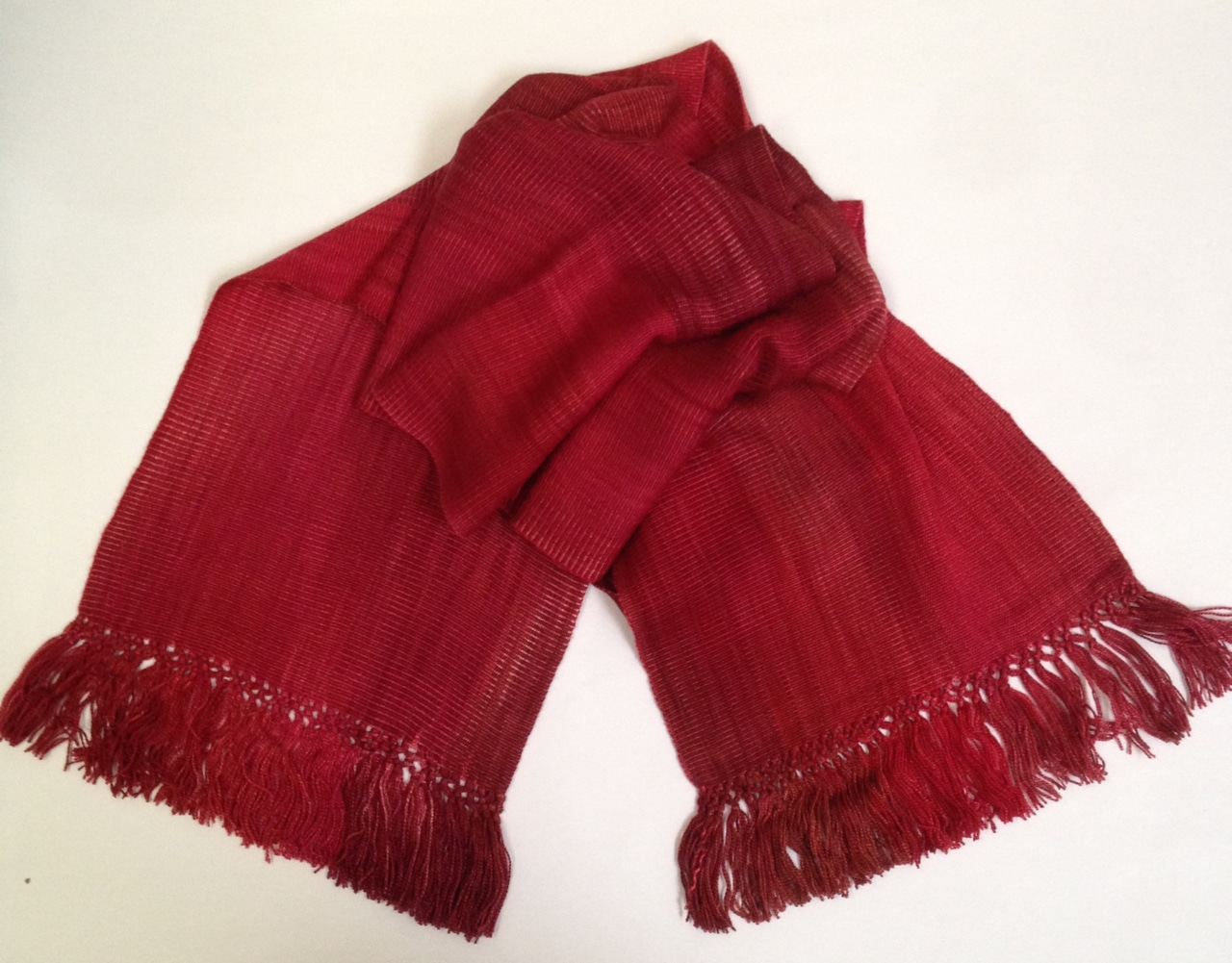 Reds - Lightweight Bamboo Handwoven Scarf 8