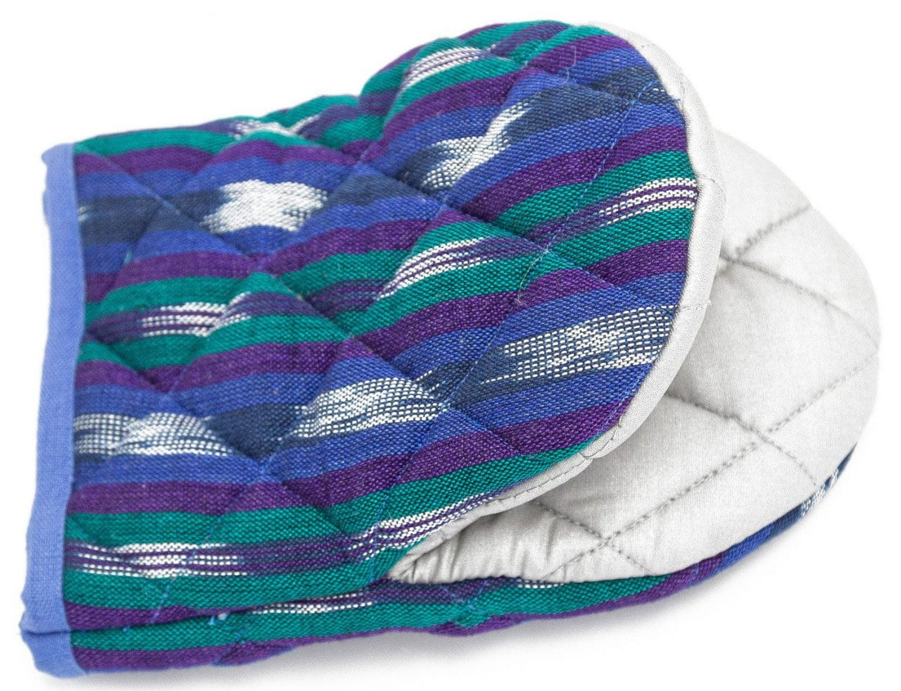 Oven Mitt - Blue with Green