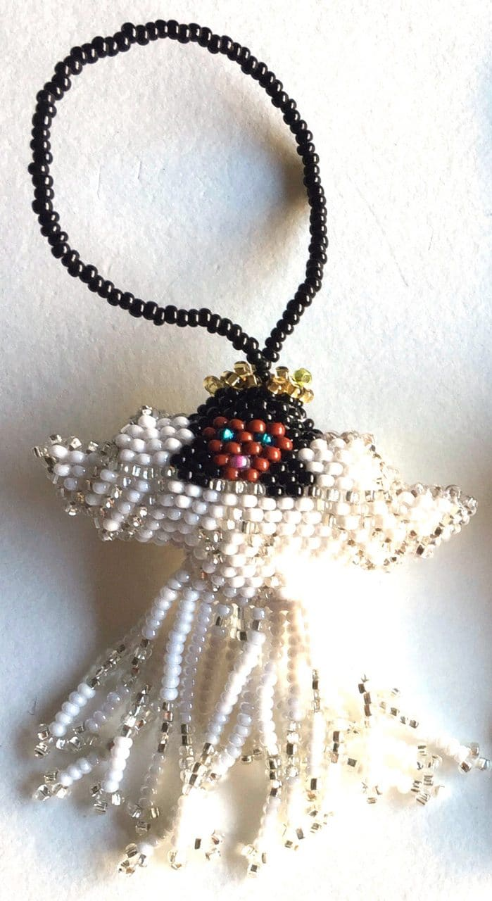 Angel of Color Ornament - with White Skirt