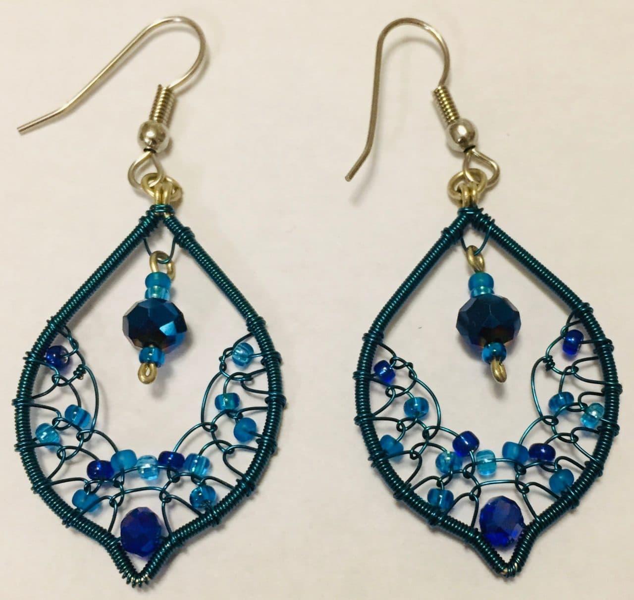 Arabian Nights Earrings - Blues