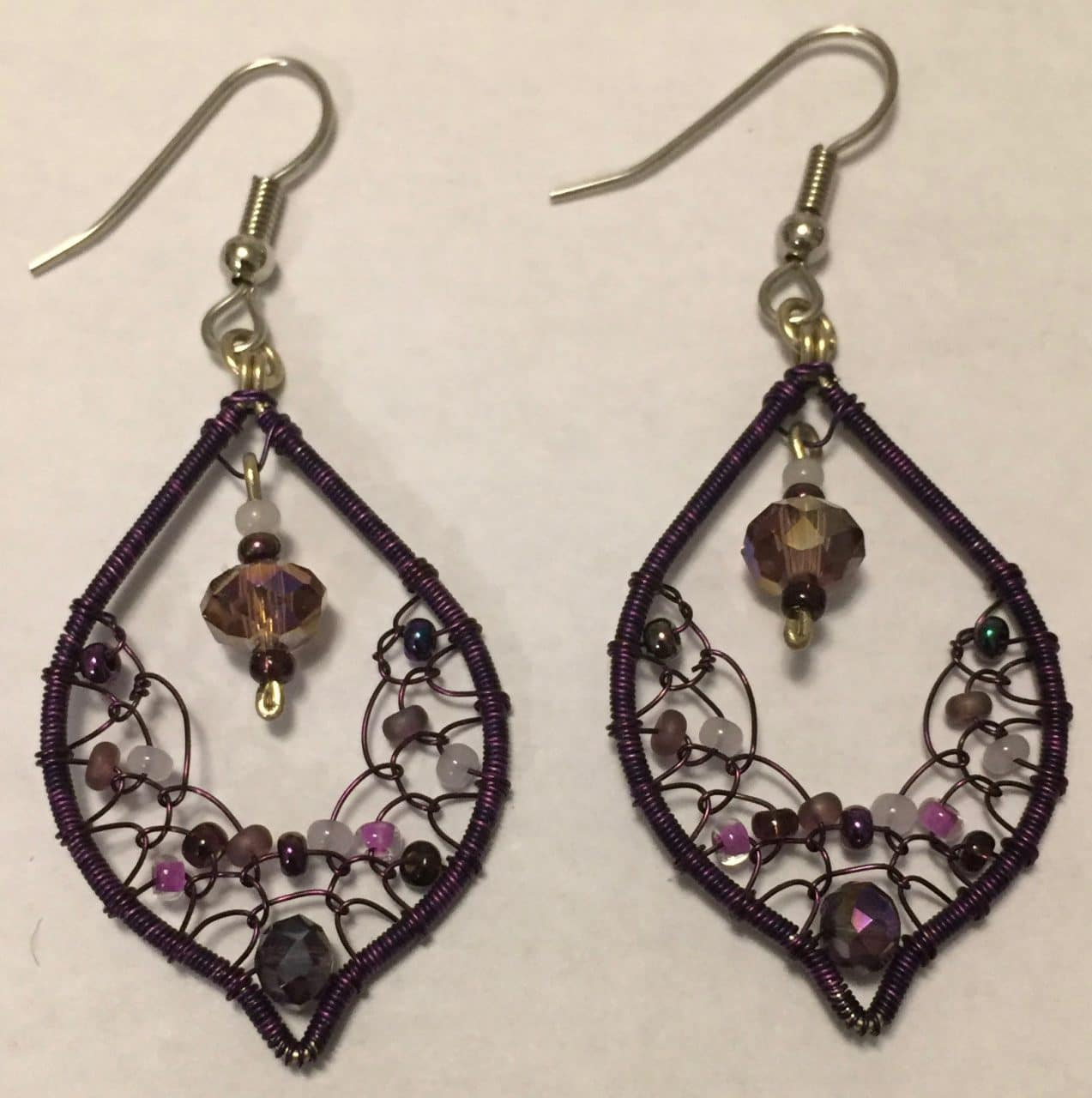 Arabian nights Earrings - Purples
