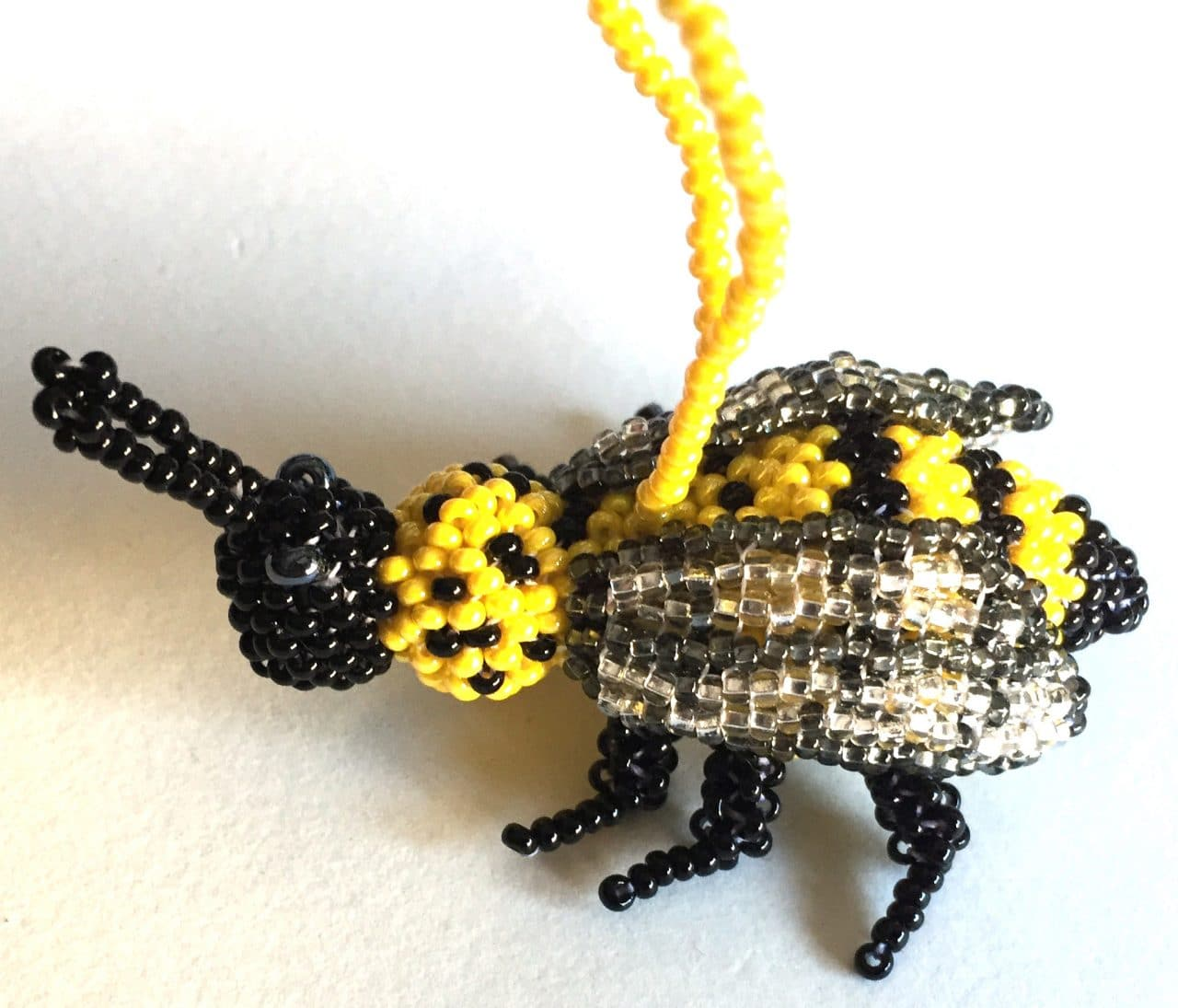 Bee Beaded Ornament #1