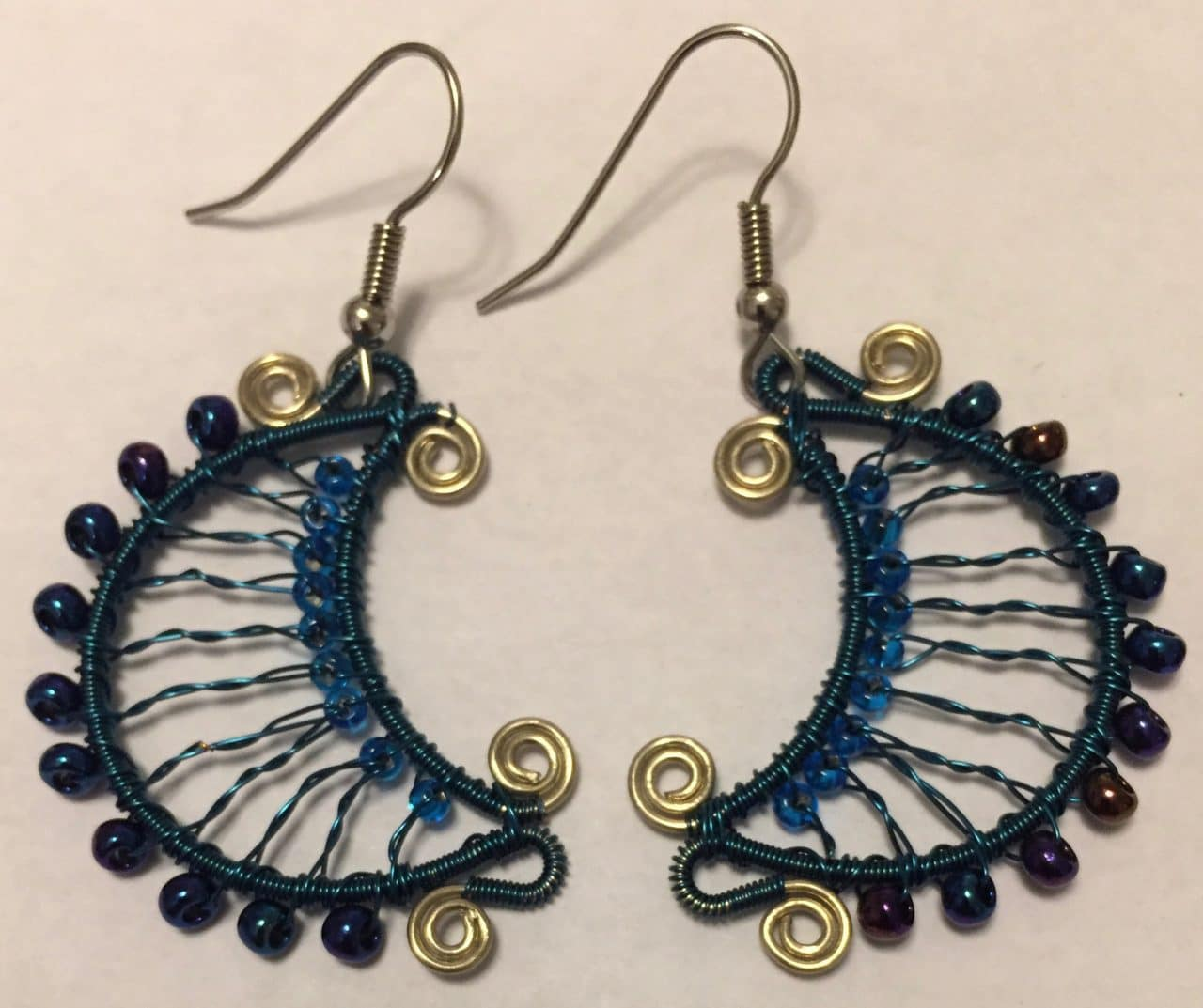 Luna Earrings - Blue