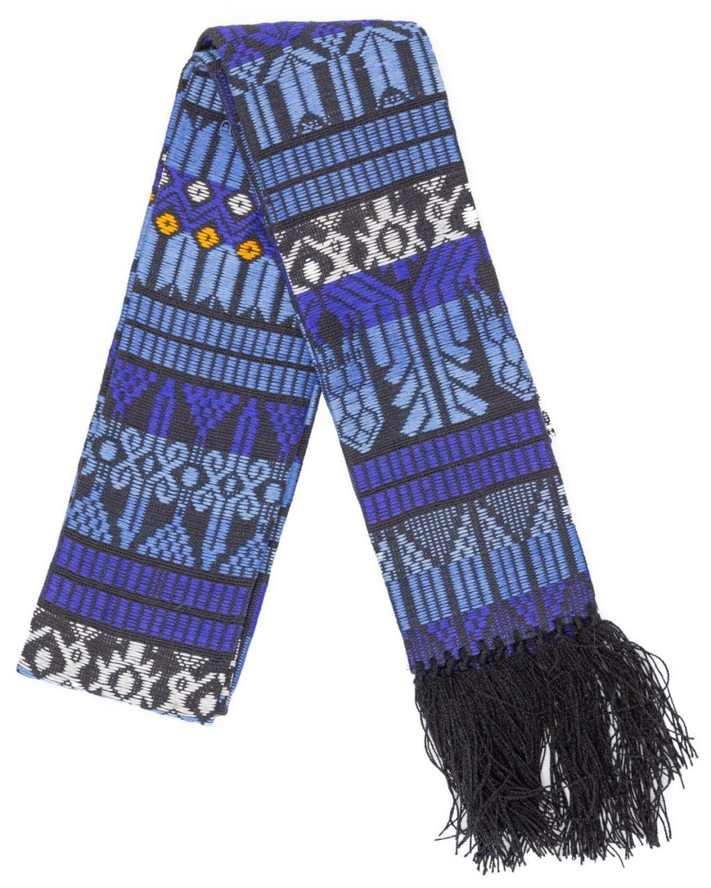 Brocaded Clerical Stole - Blue
