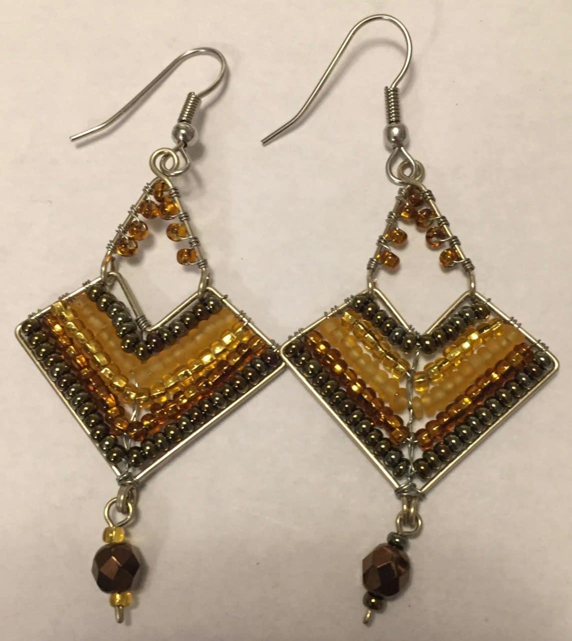 Chevron Earrings - Golds