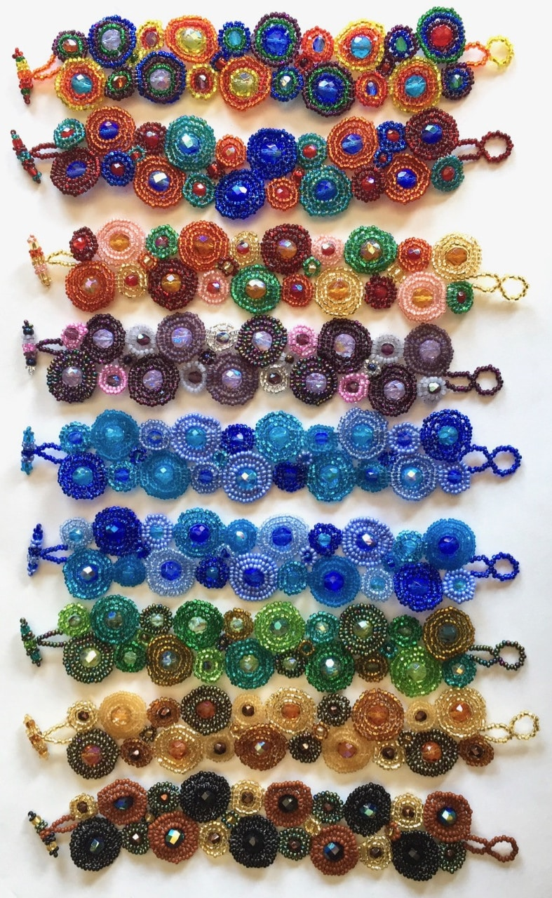 Circles Beaded Bracelet - A Variety of Colors