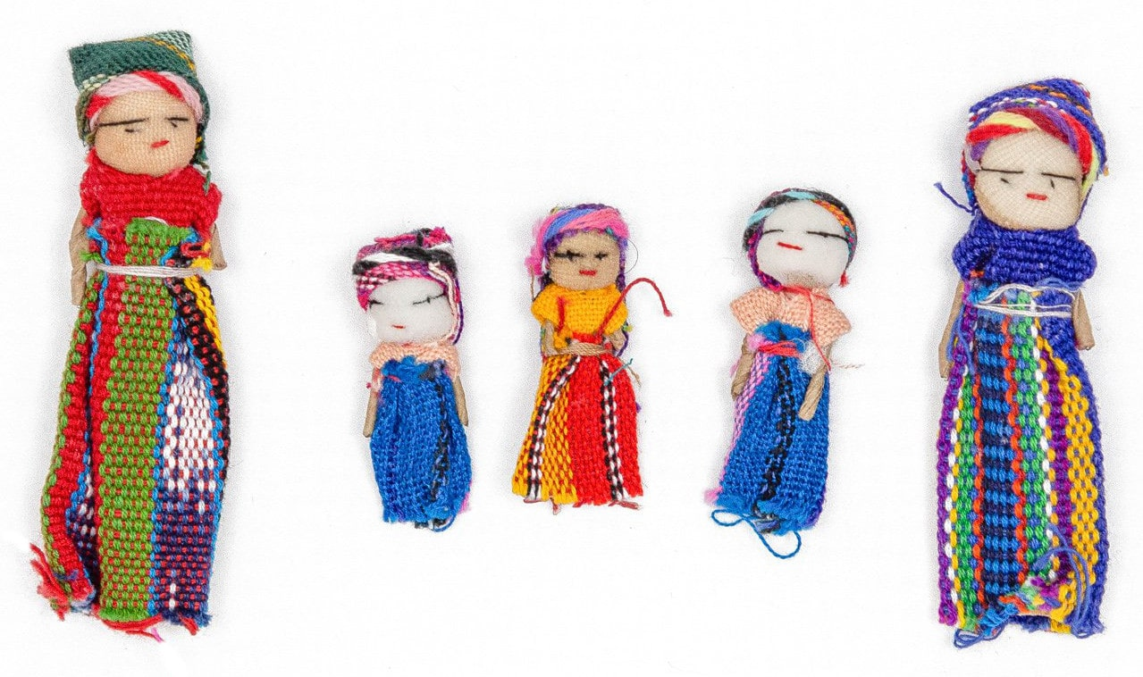 Roll-Up Worry Doll Playset
