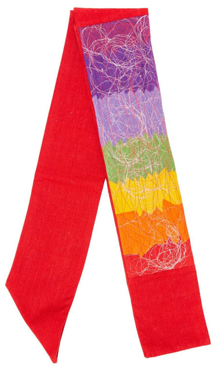 Contemporary Clerical Stole - Rainbow and Red