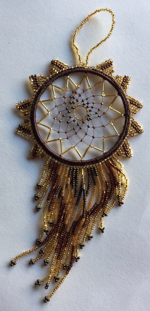 Dreamcatcher - Beaded - Golds