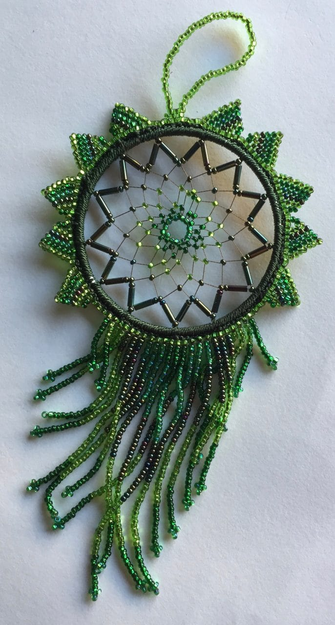 Dreamcatcher - Beaded - Greens