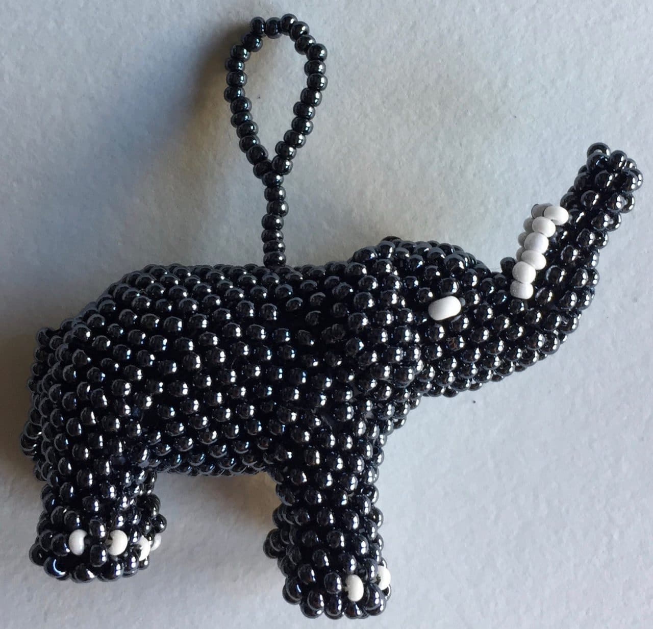 Elephant Beaded Ornament