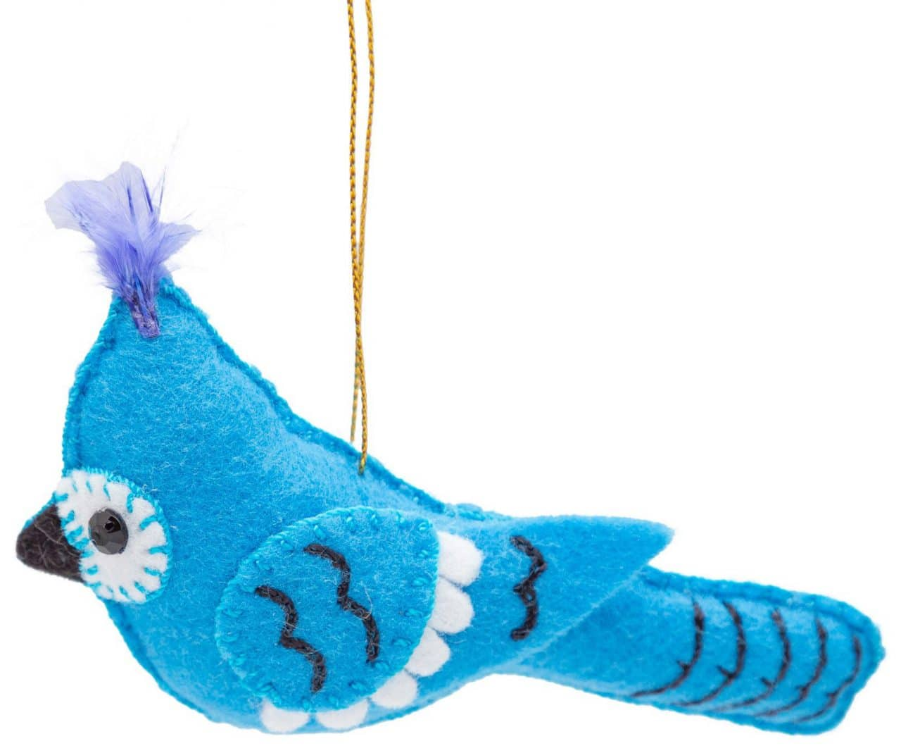 Felt Blue Jay Ornament