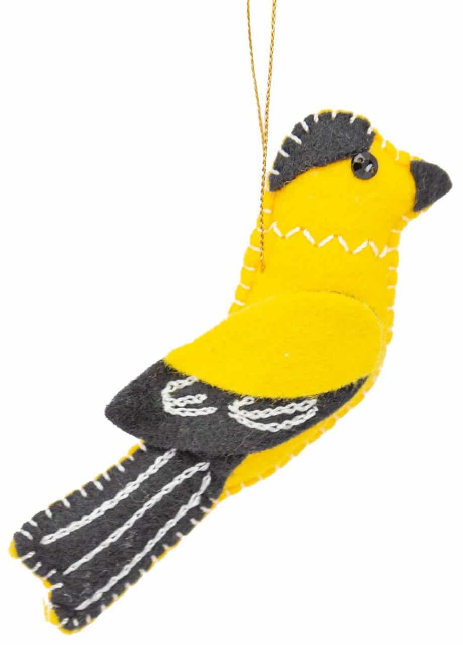 Felt Goldfinch Ornament