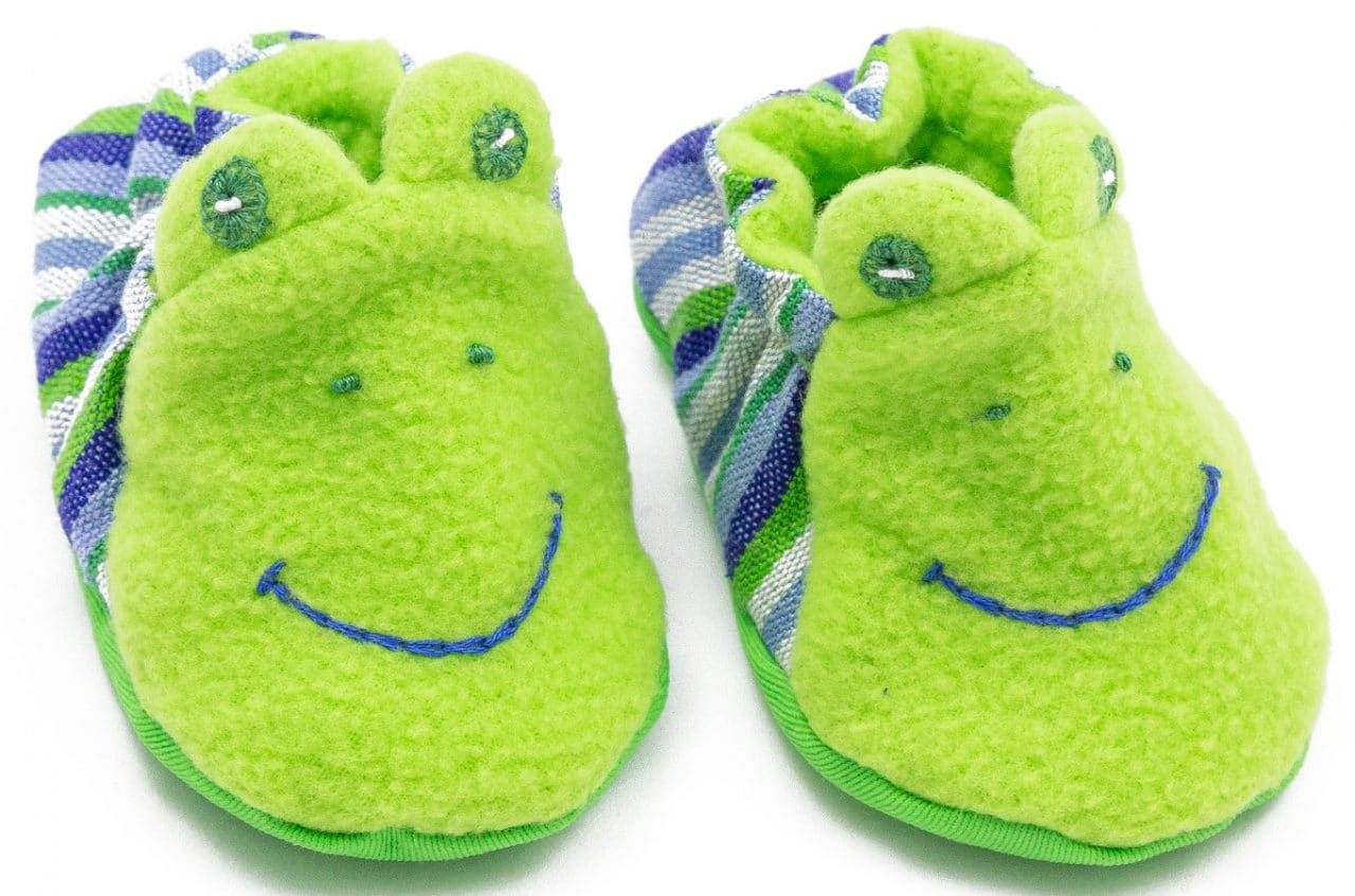 Baby Booties - Frog - A Variety of Colors