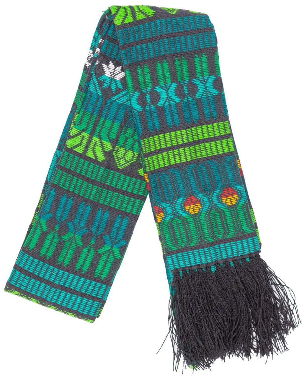 Brocaded Clerical Stole - Green