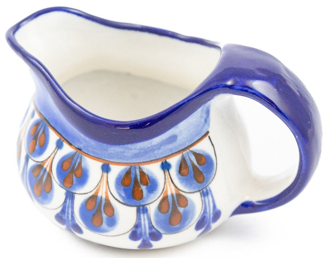 Hand-Painted Stoneware Creamer - A Variety of Colors