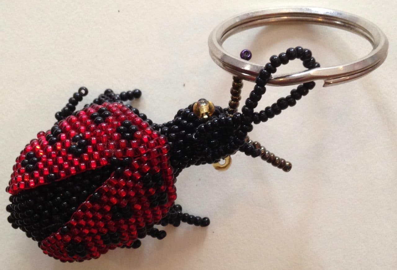 Ladybug Beaded Key RIng