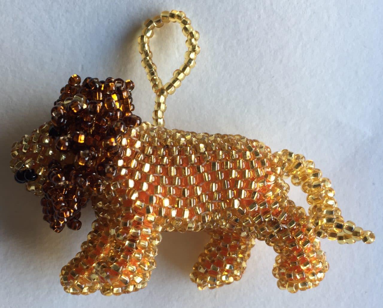 Lion Beaded Ornament
