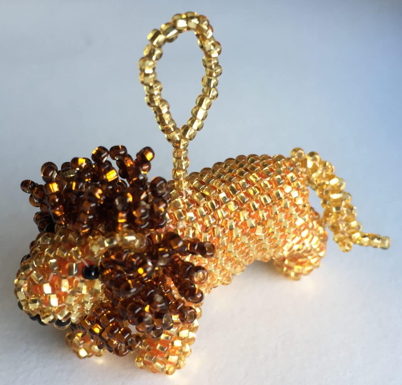 Lion Beaded Ornament