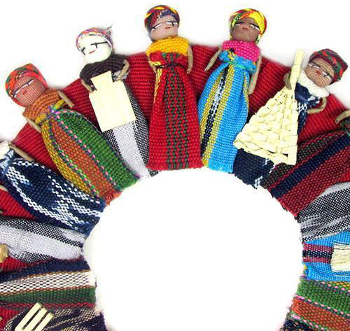 Worry Doll Wreath - Large
