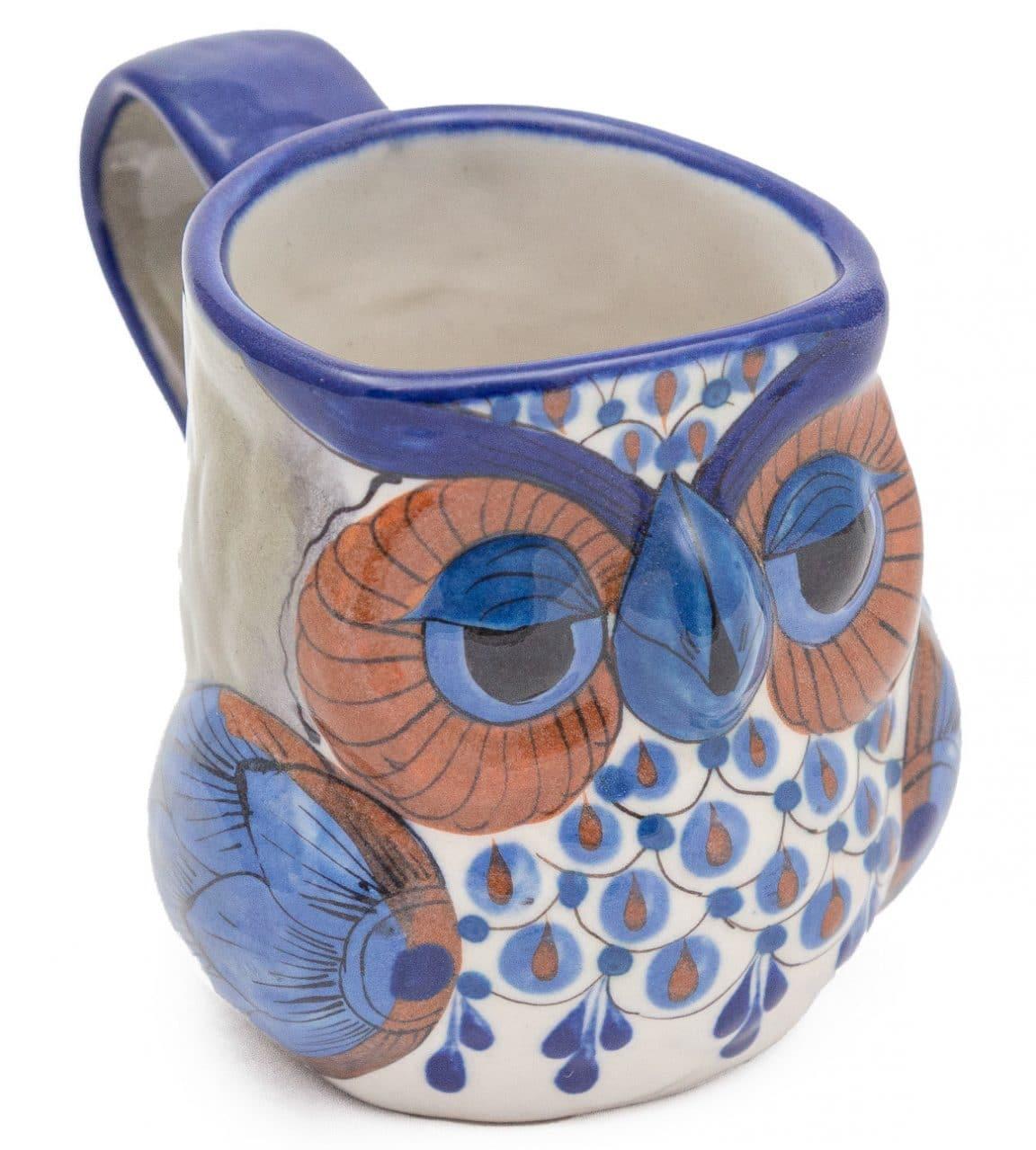 Hand-Painted Stoneware Owl Mug