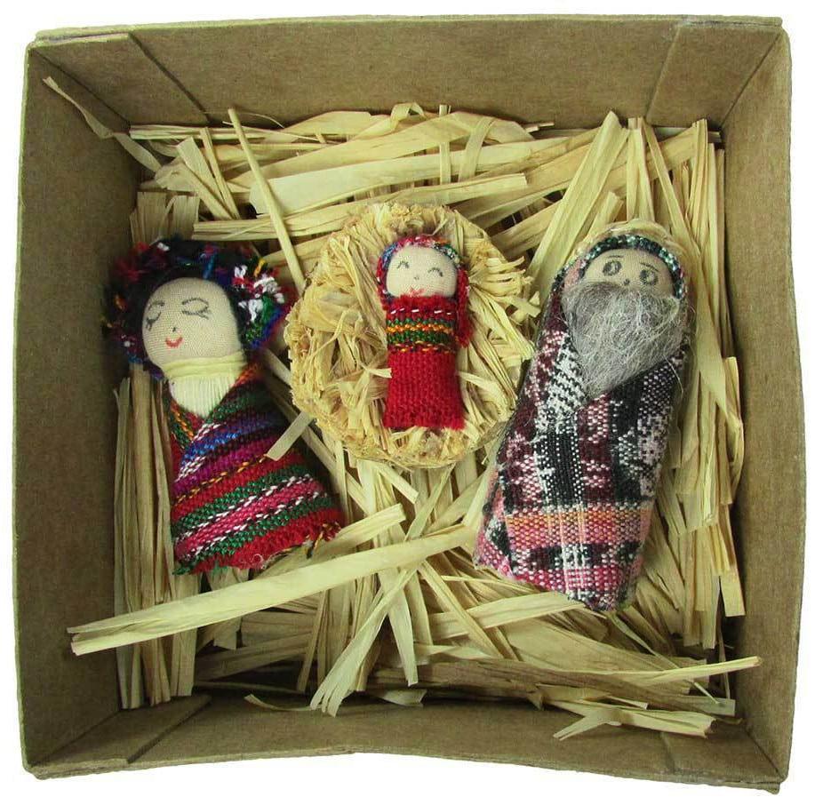 Miniature Recycled Nativity Scene