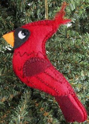 Felt Cardinal Ornament