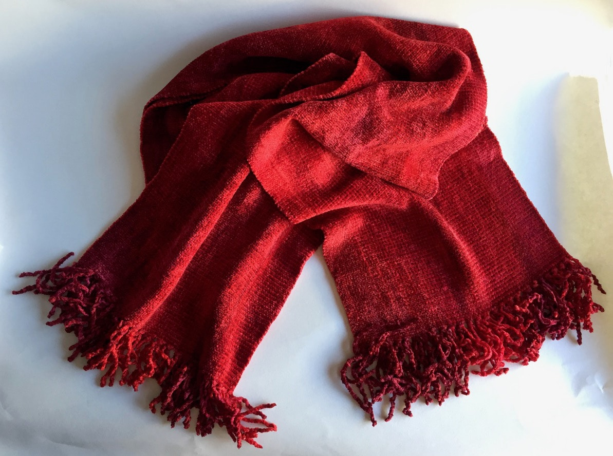Reds (Bright!) - Bamboo Chenille Handwoven Scarf 8