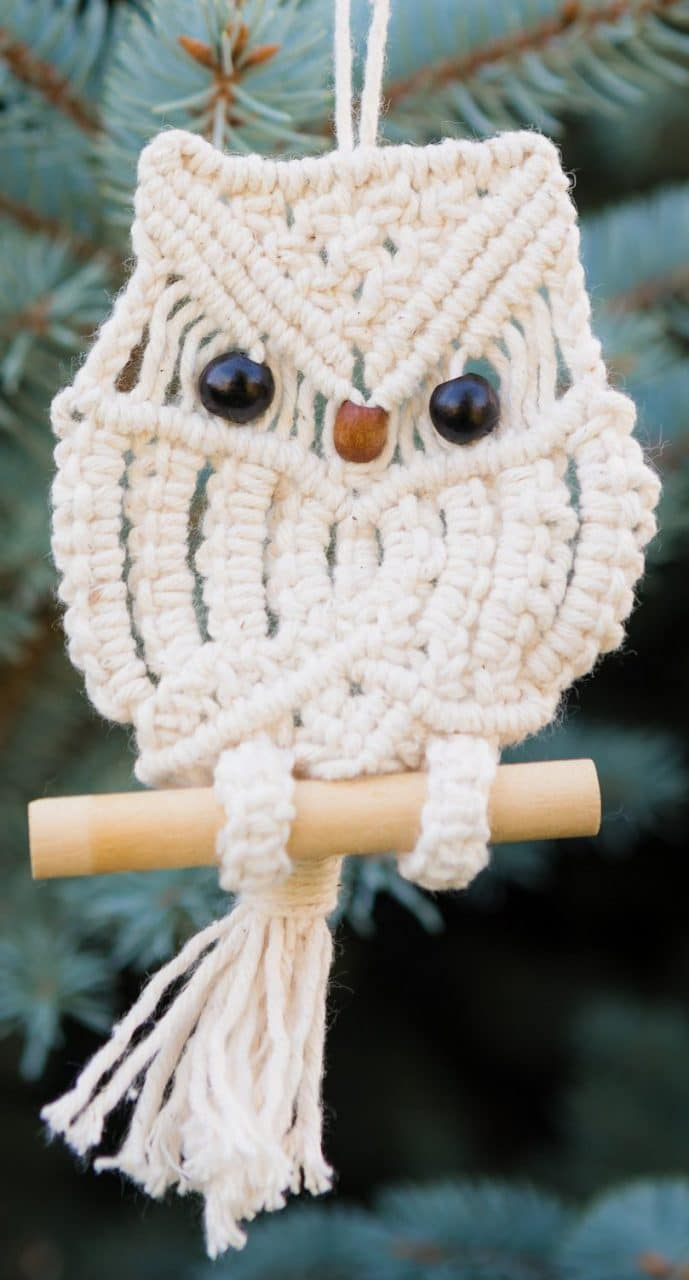 Macrame Owl Ornament