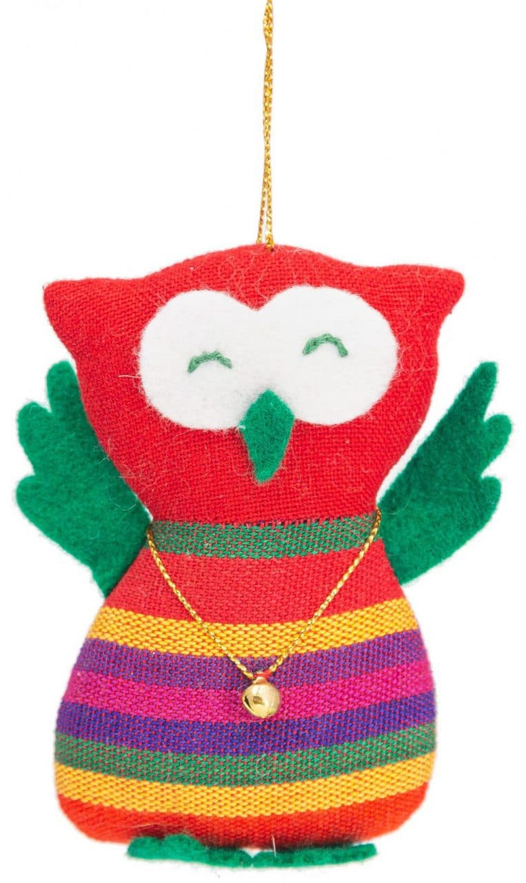 Owl Ornament with Gold Necklace