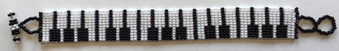 Piano Keys Flat Beaded Bracelet