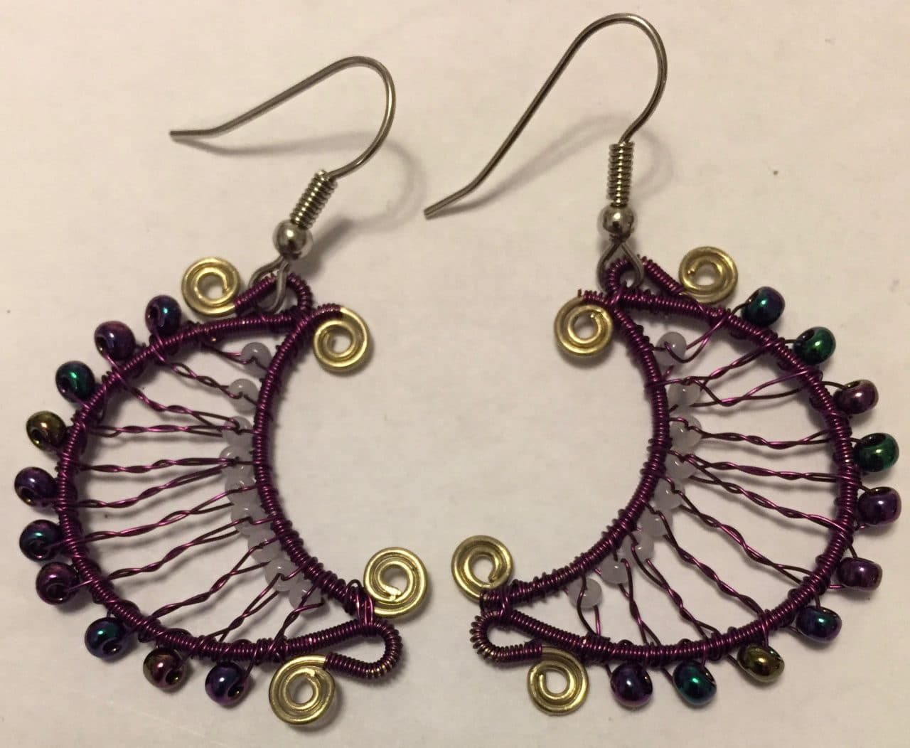 Luna Earrings - Purple