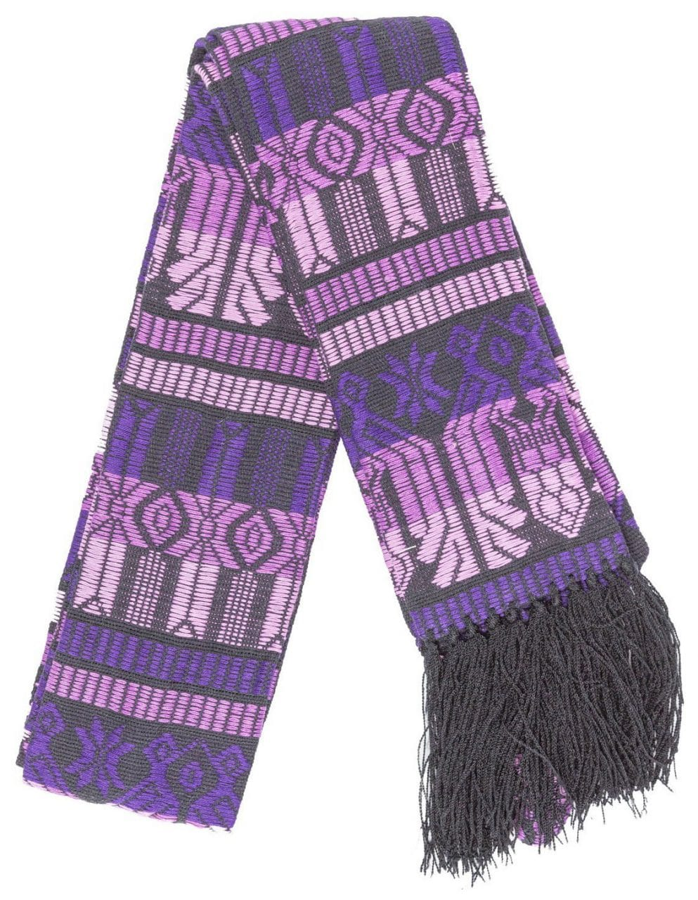 Brocaded Clerical Stole - Purple