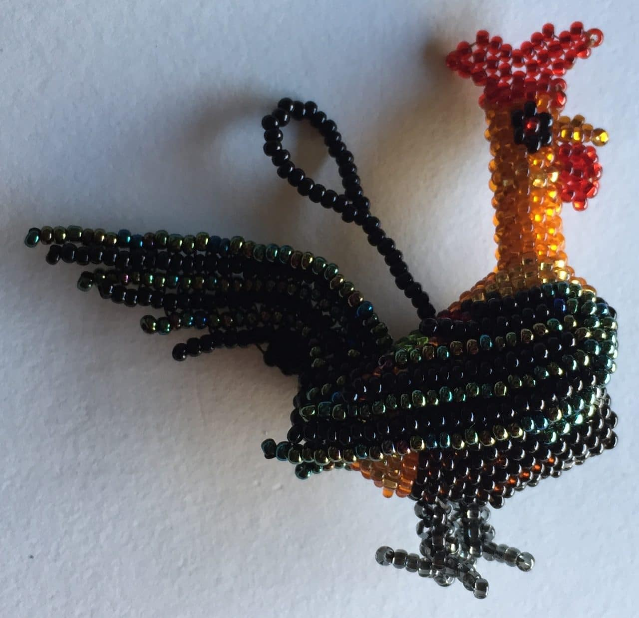 Rooster Beaded Ornament