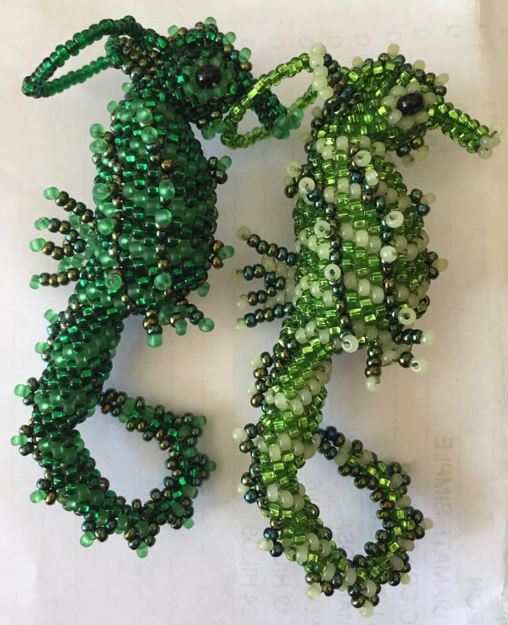 Seahorse Beaded Ornament - A Variety of Colors