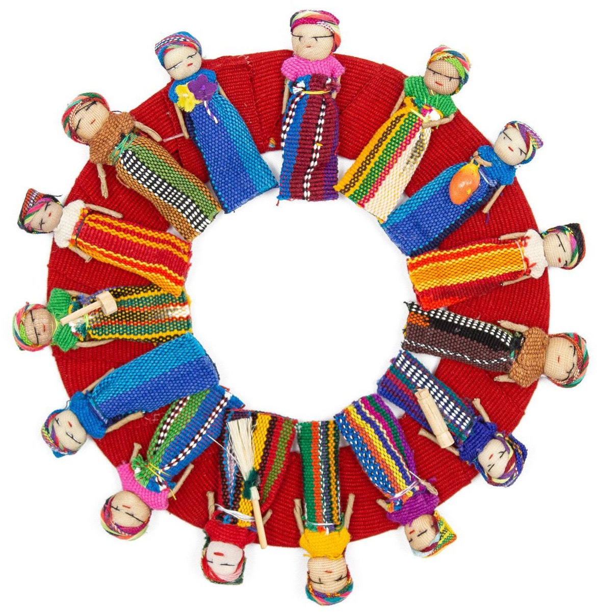 Worry Doll Wreath - Small