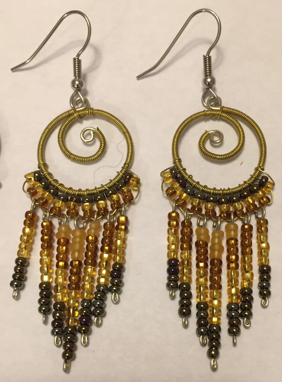Spiral Fringe Earrings - Golds