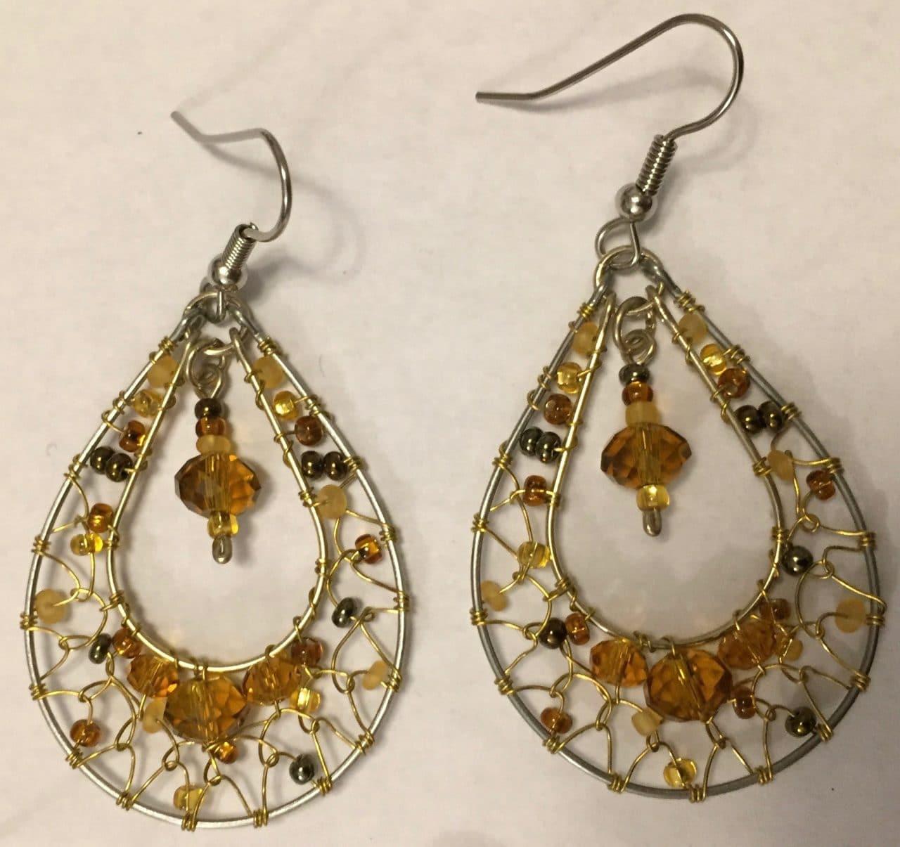 Teardrop Dreamcatcher Earrings - Golds