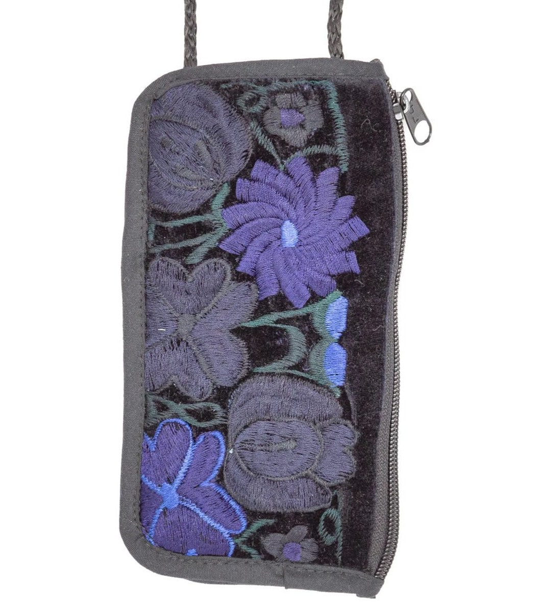 Velvet Embroidered Cell Phone / Eyeglass Case - A Variety of Colors
