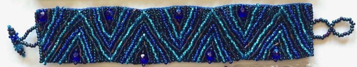Volcanos and Stars Bracelet - Blue