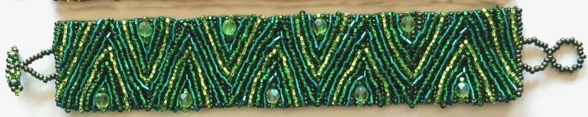 Volcanos and Stars Bracelet - Green