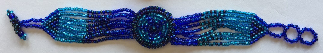 Watch Beaded Bracelet - Blues