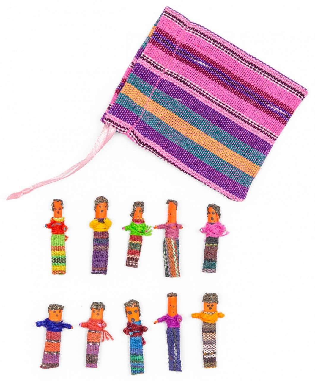 Guatemalan Worry Dolls - Set of 10 Small