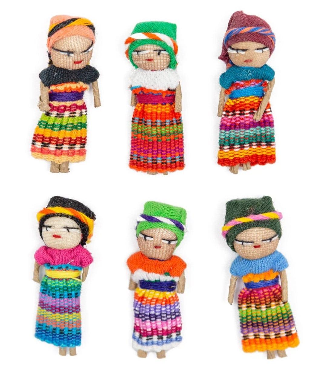Guatemalan Worry Dolls - Set of 6