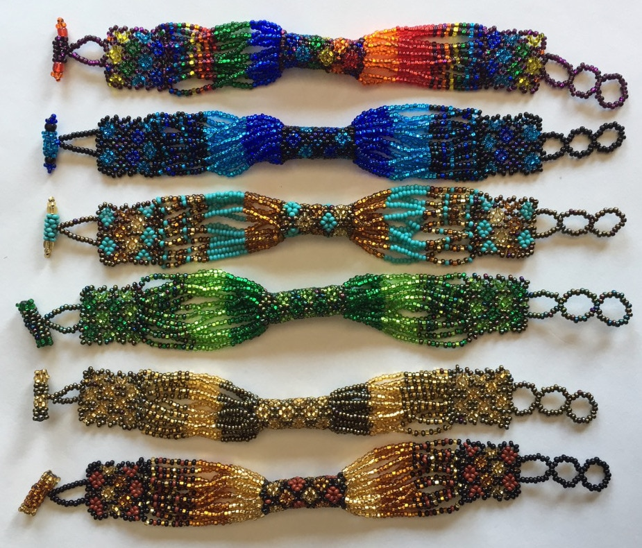 Zulu Style Beaded Bracelet - A Variety of Colors