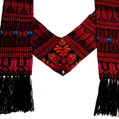 Brocaded Clerical Stole - Red
