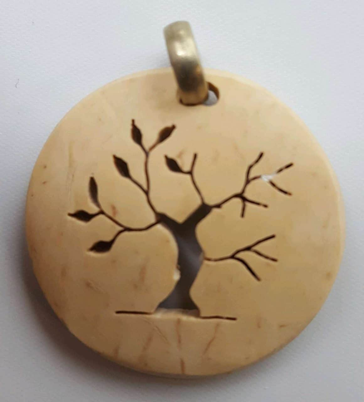 Tree of Life Winter to Spring Coco Spirit Hand-Carved Coconut Shell Necklace